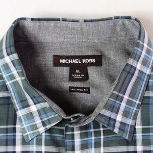 Michael Kors Men's Size XL Tailored Fit L/S Shirt